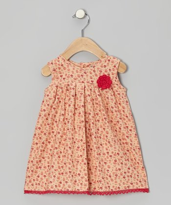 Pink Daisy Corduroy Dress - Infant