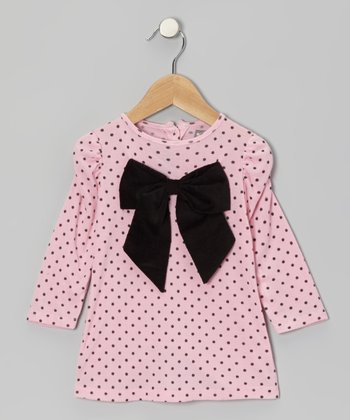 Pink Polka Dot Bow Tunic - Infant & Toddler