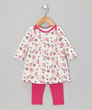 Magenta Jungle Tunic & Leggings - Infant