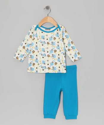 Blue Jungle Lapneck Tee & Pants - Infant