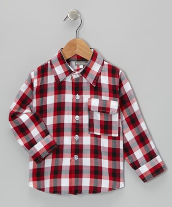 Red & Black Plaid Button-Up - Infant & Toddler