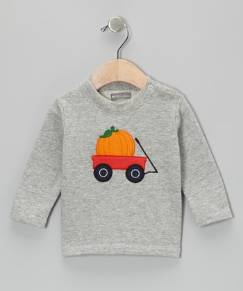 Gray Pumpkin Wagon Tee - Infant & Toddler
