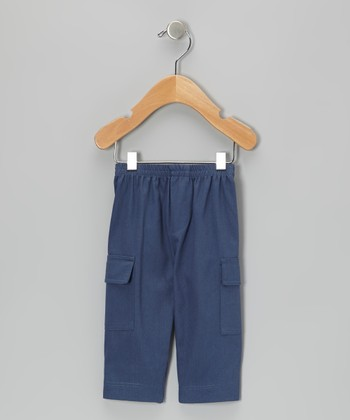 Navy Twill Cargo Pants - Infant