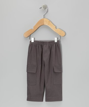 Brown Twill Cargo Pants - Infant