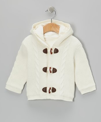 Ivory Toggle Hooded Coat - Infant