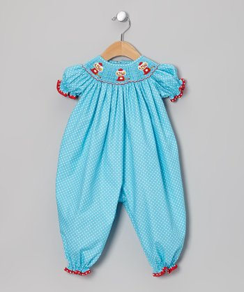 Light Blue Gumball Bishop Playsuit - Infant
