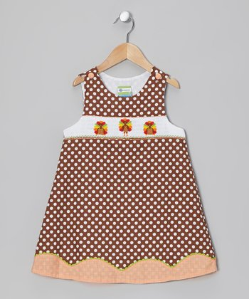 Brown Turkey Smocked Jumper - Infant, Toddler & Girls