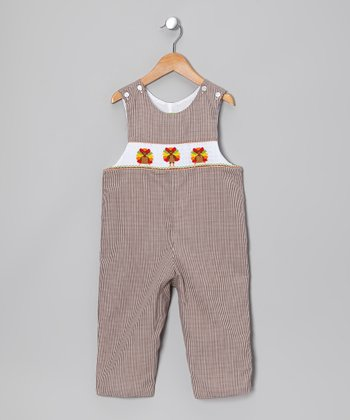 Tan Turkey Overalls - Infant