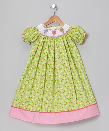 Lime Lollipop Bishop Dress - Infant, Toddler & Girls