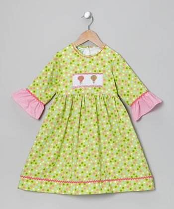 Lime Lollipop Smocked Dress - Toddler & Girls