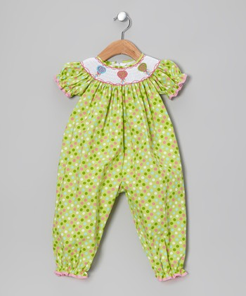 Lime Lollipop Smocked Playsuit - Infant