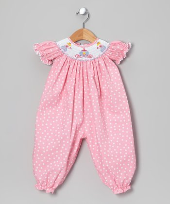 Pink Princess Bishop Playsuit - Infant