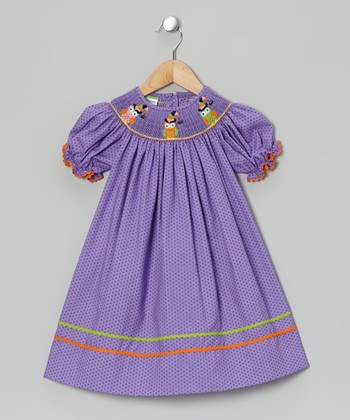 Purple Owl Witch Bishop Dress - Infant