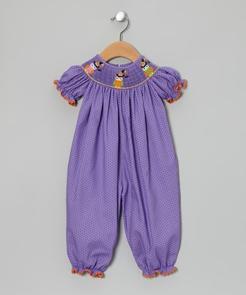Purple Owl Witch Bishop Playsuit - Infant