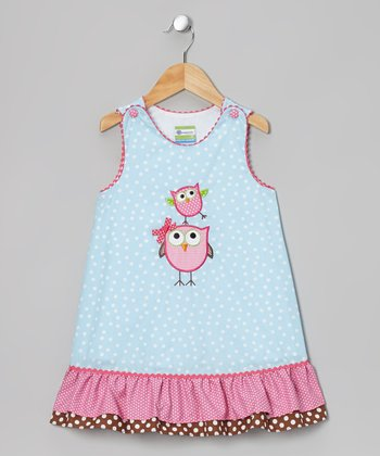 Light Blue Owl Swing Jumper - Toddler