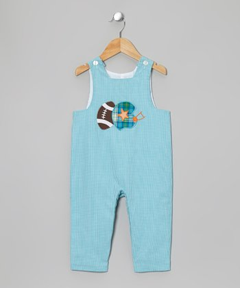 Light Blue Football Overalls - Infant