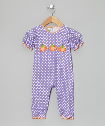 Purple & Orange Pumpkin Playsuit - Infant