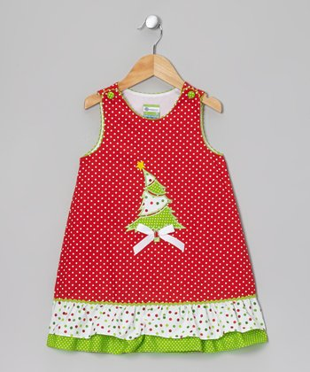 Red & Green Christmas Tree Jumper - Infant & Toddler