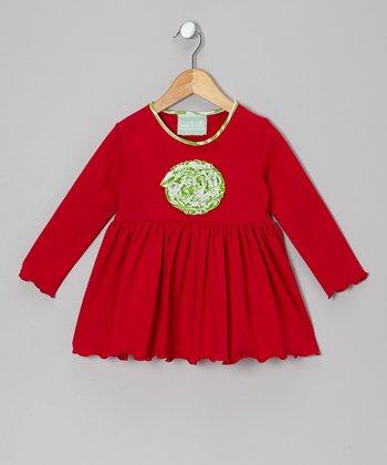Red Merry & Bright Maggie Dress - Infant, Toddler & Girls