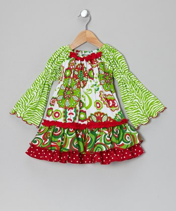 Red & Green Hannah Dress - Infant, Toddler & Girls