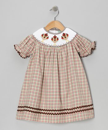 Brown Plaid Turkey Bishop Dress - Infant, Toddler & Girls