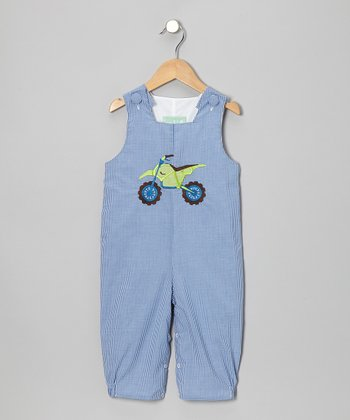 Blue Gingham Motorcycle Overalls - Infant, Toddler & Boys