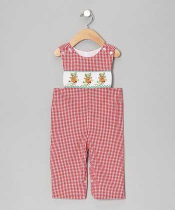 Red Rudolph Gingham John Johns - Infant & Toddler