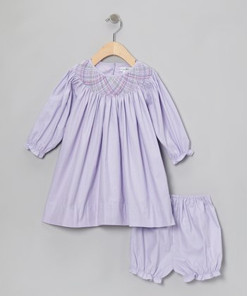 Lavender Bishop Dress & Bloomers - Infant