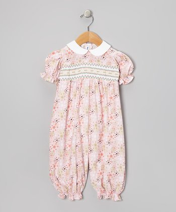 Pink Geometric Bubble Playsuit - Infant