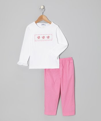 White Piggies Top & Pink Pants - Infant & Toddler