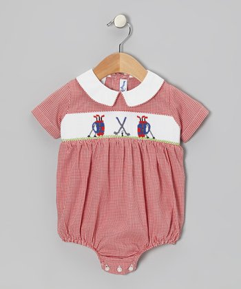 Red Golf Bubble Bodysuit - Infant