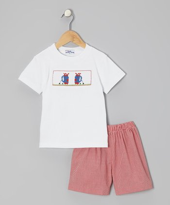 White Golf Tee & Red Shorts - Infant & Toddler