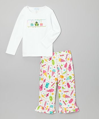 White Birthday Tee & Ruffle Pants - Infant & Toddler