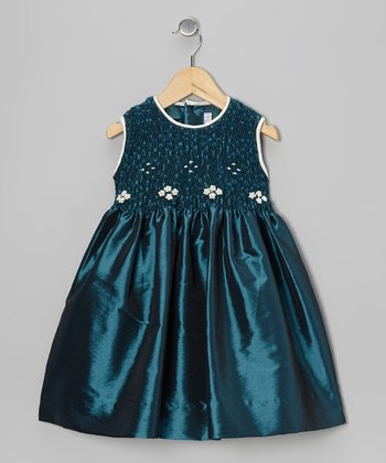 Green Daisy Smocked Dress - Infant, Toddler & Girls