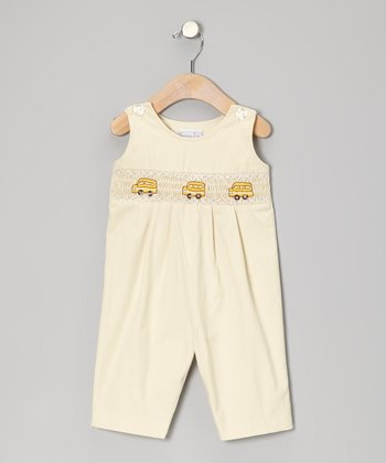 Ivory School Bus Overalls - Infant