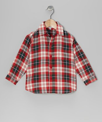Red & Green Plaid Shirt - Infant & Toddler