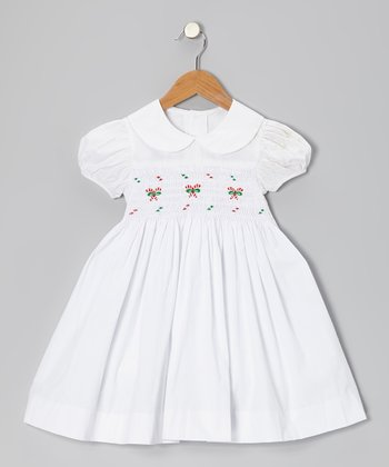 White Candy Cane Dress - Infant, Toddler & Girls
