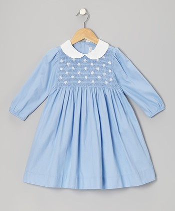 Blue Flower Smocked Dress - Infant, Toddler & Girls