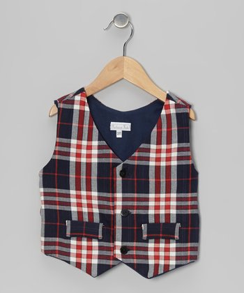 Red Plaid Vest - Infant, Toddler & Boys