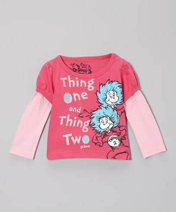 Fuchsia 'Thing One' Dr. Seuss Layered Tee - Infant