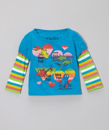 Turquoise 'One Fish' Dr. Seuss Layered Tee - Infant