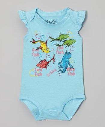 Aqua 'One Fish' Dr. Seuss Bodysuit - Infant