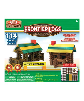 Frontier Logs Classic Wood Construction Set