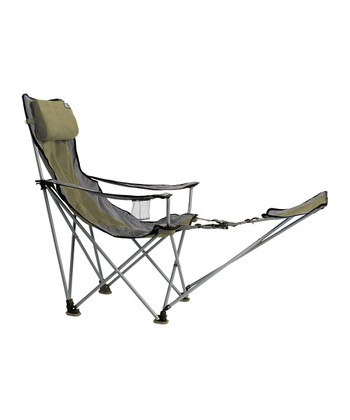 Green Big Bubba Portable Chair with Foot Rest