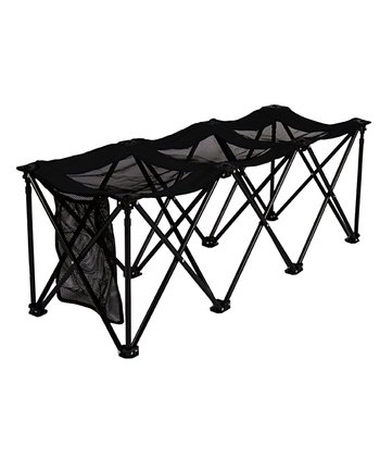 Black Portable Three-Seat Bench
