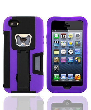 Black & Purple Armor Party Case for iPhone 4/4S