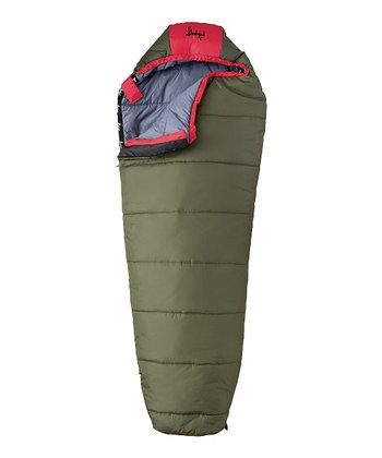 Green & Red Junior Sleeping Bag