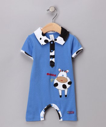 Blue Cow Romper - Infant