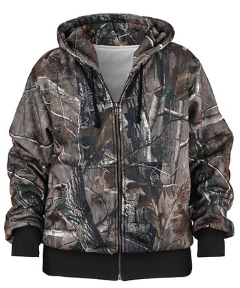 Brown Realtree Hooded Jacket - Kids