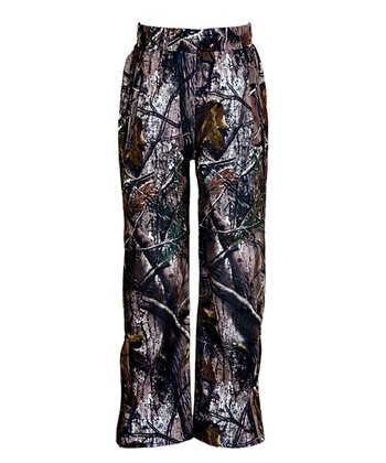 Brown Realtree Performance Rain Pants - Kids